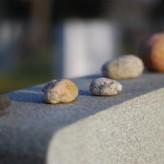 rocks on grave